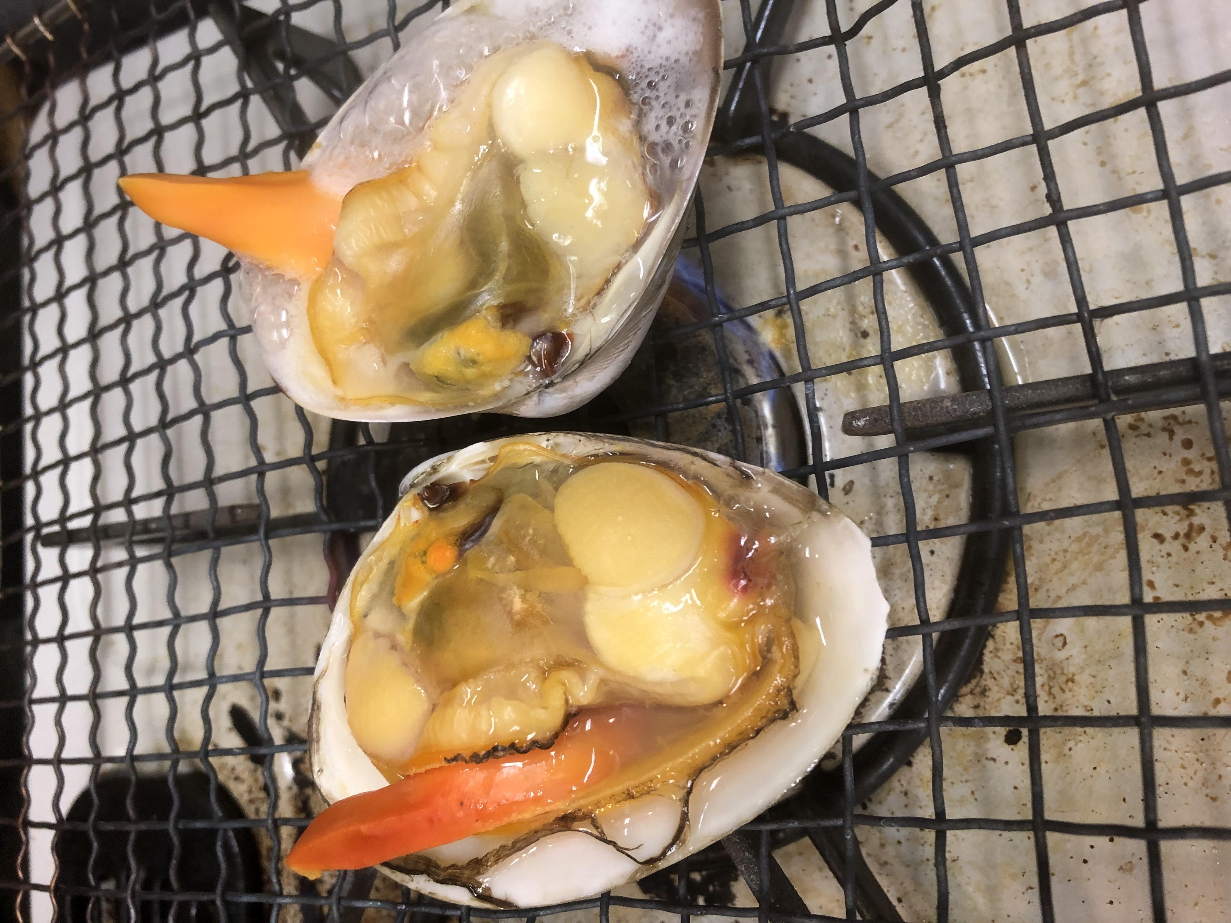最近好評の青柳貝の焼き物